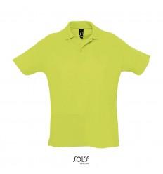 Polo algodón mejor calidad-precio Sol's Summer II 170 publicitaria Color Verde Manzana Vista Frontal