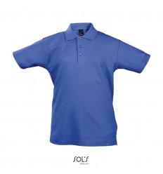 Polo niños de algodón manga corta Sol's Summer II 170 publicitaria Color Azul Royal Vista Frontal