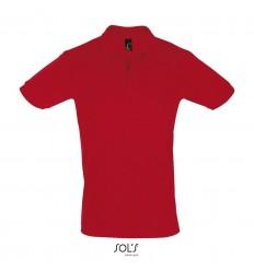 Polo de algodón ringspun Sol's Perfect 180 económica Color Rojo Vista Frontal