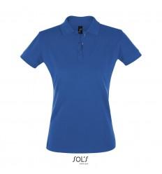 Polo de manga corta de mujer Sol's Perfect 180 barata Color Azul Royal Vista Frontal