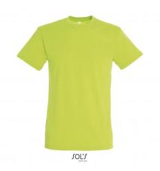 Camiseta mejor calidad-precio de algodón Sol's Regent 150 publicitaria Color Verde Manzana Vista Frontal
