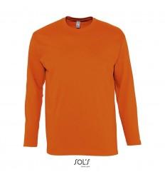 Camiseta de manga larga de algodón Sol's Monarch 150 merchandising Color Naranja Vista Frontal