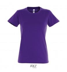 Camiseta para mujer de gran calidad Sol's Imperial 190 merchandising Color Morado Oscuro Vista Frontal
