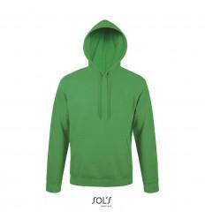 Sudadera con capucha y forro polar Sol's Snake 280 merchandising Color Verde Vista Frontal