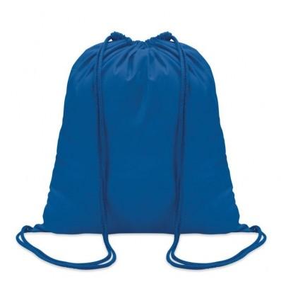 Mochila de Algodón con Cordones de color para eventos Color Azul Royal