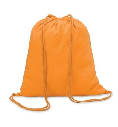 Mochila de Algodón con Cordones de color promocional Color Naranja