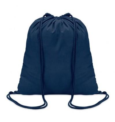 Mochila de Algodón con Cordones de color para personalizar Color Azul