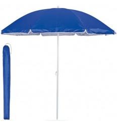 Sombrilla de playa de poliéster con funda personalizada Color Azul Royal