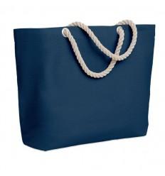 Bolsa de playa con asas de cuerda barata Color Azul