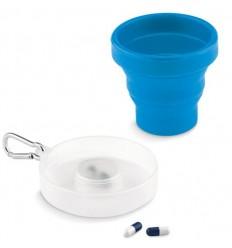 Vaso Plegable de Silicona Pequeño personalizado Color Azul