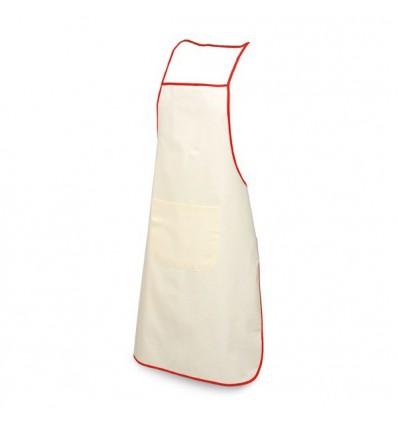 Delantal suave 100% Algodón y ribete de color barato Color Rojo
