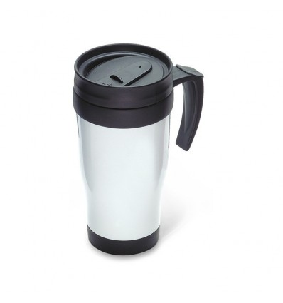 Taza de Viaje Térmica con Tapa Personalizada Color Blanco