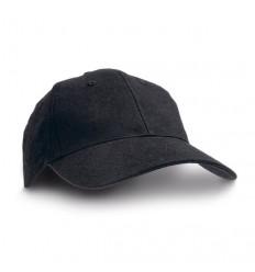 Gorra de Béisbol 100% algodón Publicidad Color Negro