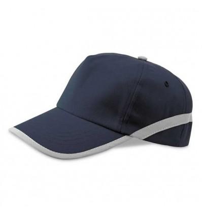 Gorra de Béisbol con Cinta Reflectante Personalizada Color Azul