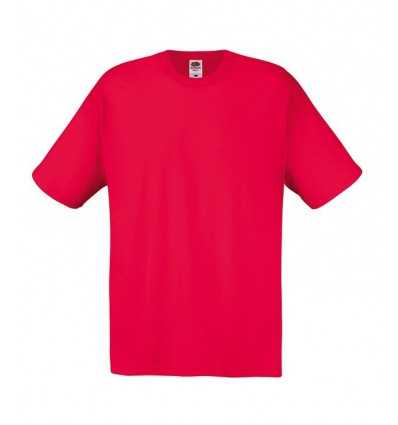 Camiseta Fruit of the Loom Original para Personalizar Color Rojo
