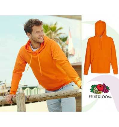 Sudadera con Capucha Ligera para Regalo Promocional Color Naranja