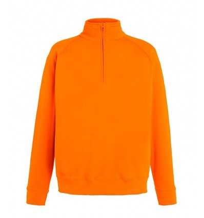 Sudadera 1/2 Cremallera Ligera para Personalizar Color Naranja