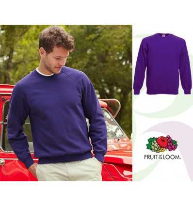 Sudadera Raglan Classic Promocional Color Púrpura