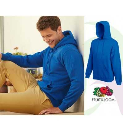 Sudadera Capucha Premium Promocional Color Azul Royal