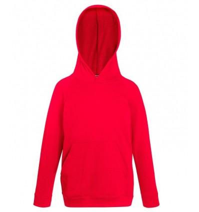 Sudadera Capucha Ligera de Niño/a para Campañas Publicitarias Color Rojo