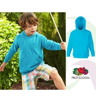 Sudadera Capucha Classic de Niño/a para Eventos Promocionales Color Azul Azure