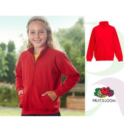 Sudadera Chaqueta Classic de Niño/a Empresa Color Rojo