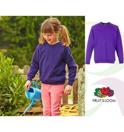 Sudadera Raglan Premium de Niño/a Personalizada Color Púrpura