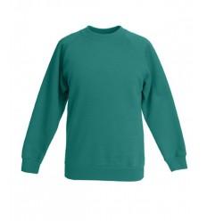 Sudadera Raglan Premium de Niño/a Promocional Color Verde Esmeralda