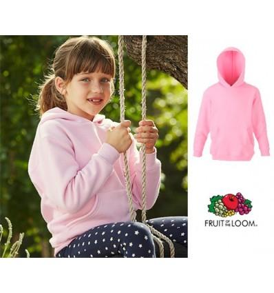 Sudadera Capucha Premium de Niño/a para Personalizar Color Rosa
