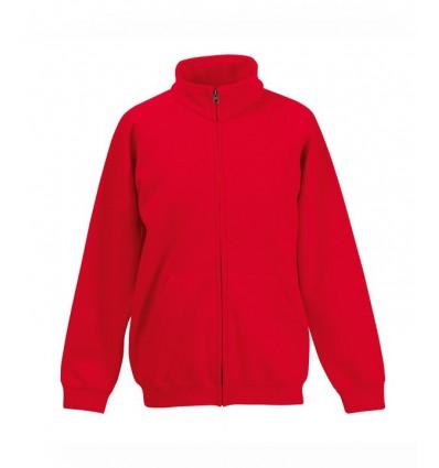 Sudadera Chaqueta Premium Niño/a para Eventos Promocionales Color Rojo