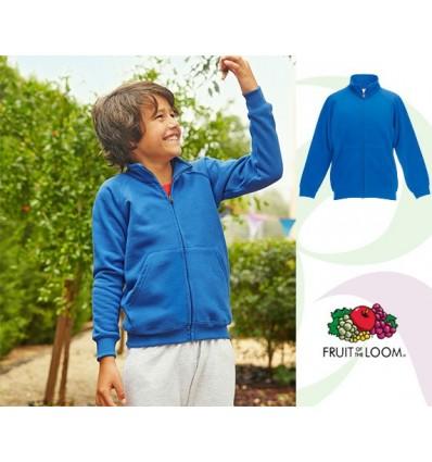 Sudadera Chaqueta Premium Niño/a Económica Color Azul Real