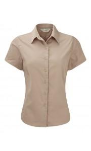 Camisa de Sarga Manga Corta Mujer