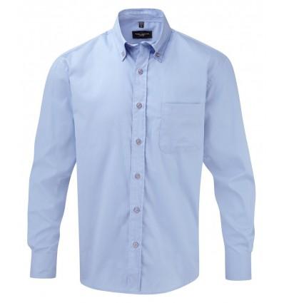 Camisa de Sarga Manga Larga para Publicidad Color Azul