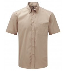 Camisa de Sarga Manga Corta Promocional Color Caqui