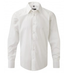 Camisa Entallada Oxford Manga Larga Publicitaria Color Blanco