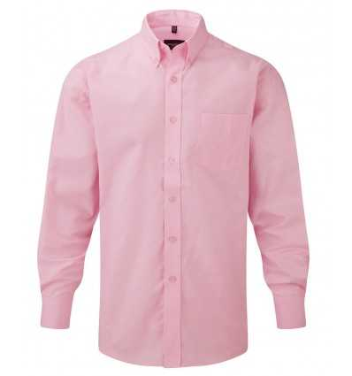 Camisa Clásica Oxford Manga Larga Publicitaria Color Rosa