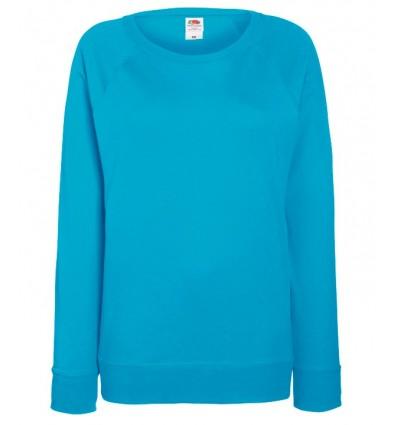 Sudadera Raglan Ligera de Mujer Empresa Color Azul Azure
