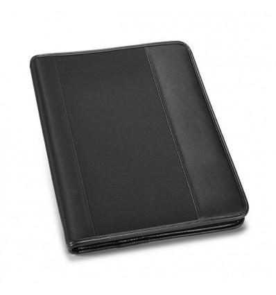 Portafolios de Polipiel y Microfibra Negro para Publicidad de Empresa Color Negro