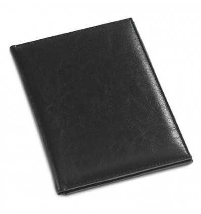 Porta Cuentas de Polipiel con Logo Publicitario Color Negro