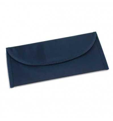 Portadocumentos de Viaje de Poliéster con Logo Publicitario Color Azul