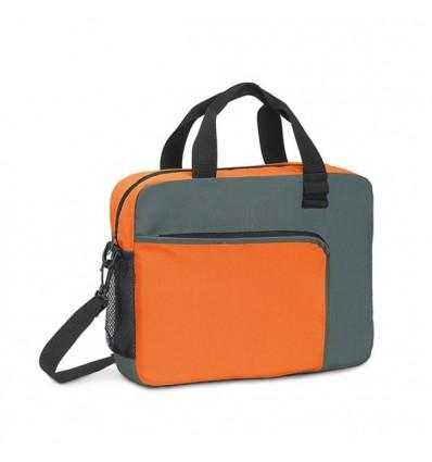 Maletín Multiusos Bicolor con Logo Personalizado Promocional Color Naranja