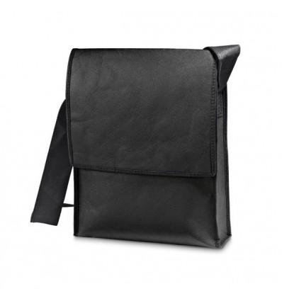 Maletín Bandolera de Non-Woven Personalizado con Logo de Empresa Color Negro