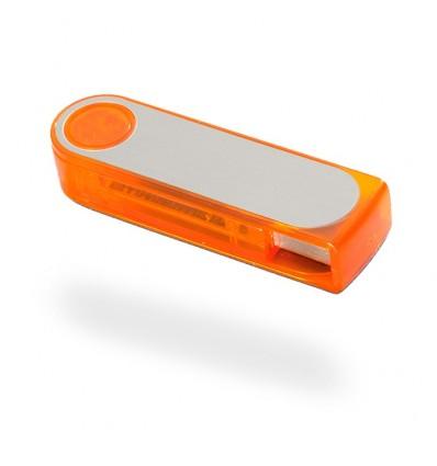 Memoria USB con Carcasa de Plástico Color Naranja