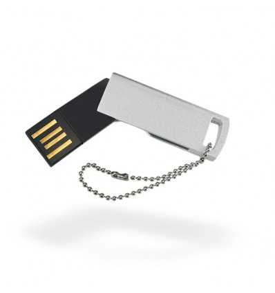 Memoria USB Ultrafina Color Plateado Mate