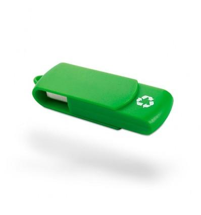 Memoria USB con Plástico Reclicado Color Verde