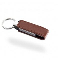 Memoria USB con Cubierta de Piel Color Marrón