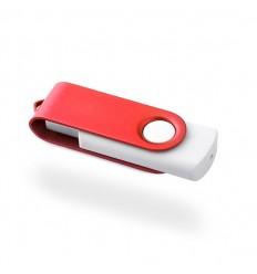 Memoria USB con Carcasa Blanca Cuerpo de Color Rojo