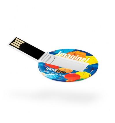 Memoria USB Redonda con Imagen del USB abierto