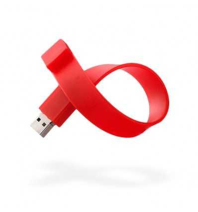 Memoria USB Pulsera Color Rojo