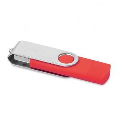 Memoria USB con Conexión Micro USB Color Rojo